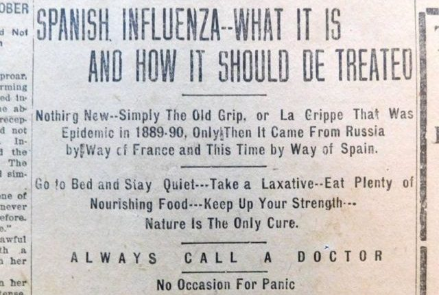 """Journalists uncover lessons from the 1918 pandemic useful in covering COVID-19"" Donald W. Reynolds Journalism Institute, April 21 / Image: Missouri School of Journalism"