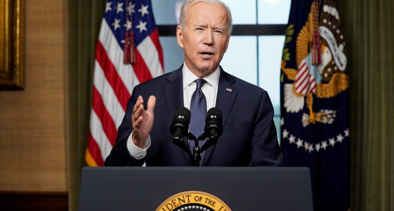 U.S. President Joe Biden delivers remarks on his plan to withdraw American troops from Afghanistan, at the White House, Washington, U.S., April 14, 2021.